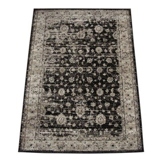 Vintage Style Distressed Brown Rug - 8'x10'7""
