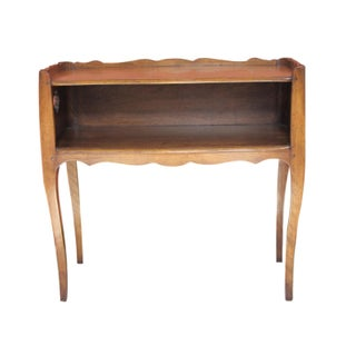Vintage Scalloped Gallery Table With Cabriole Legs