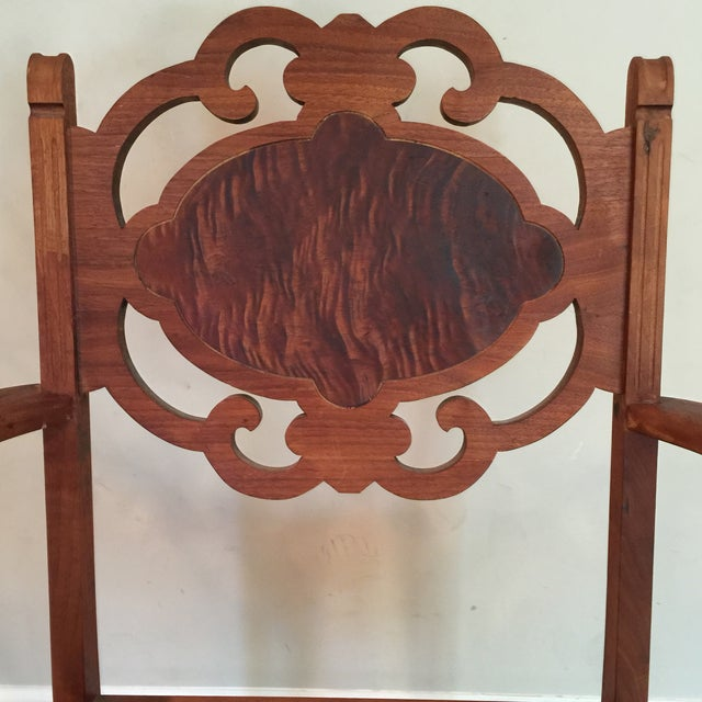 Carved Mahogany Armchair - Image 4 of 11