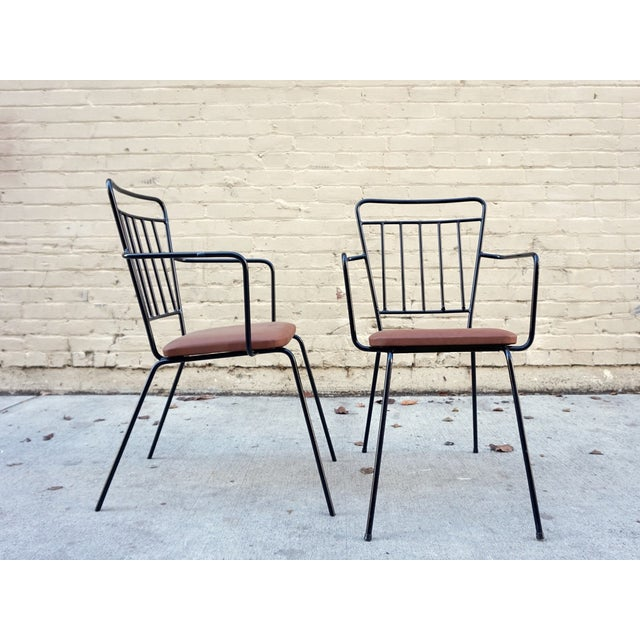 Vintage Iron Modernist Chairs - A Pair - Image 3 of 6