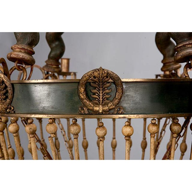 19th Century Custom Eight Arm Chandelier With Italian Crown - Image 7 of 8