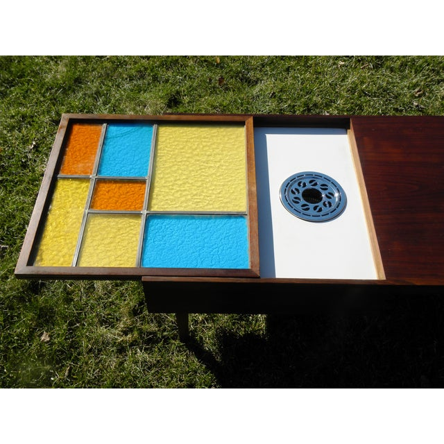 Mid-Century Coffee Table W/ Built-In Fondue Stove - Image 7 of 8