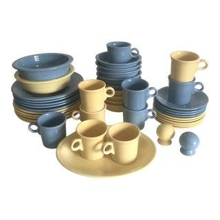 Fiesta Ware Vintage Post Modern Ceramic Dinnerware - Set of 43