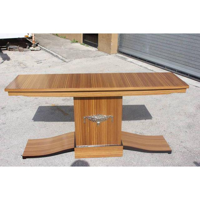 French Art Deco Macassar Ebony Console Table - Image 9 of 10
