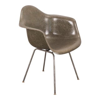 Eames Olive Green Fiberglass Armshell Chair