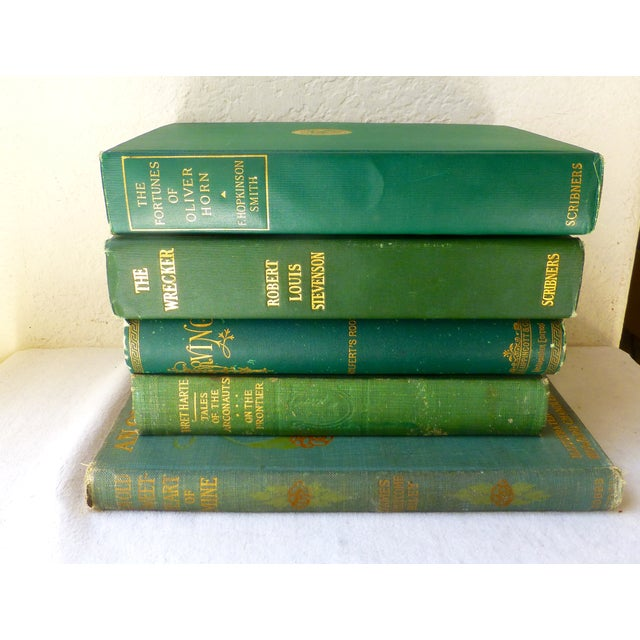 Antique Green & Gold Books - Set of 5 - Image 3 of 10