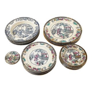 26-Piece Antique H & C Dish Set