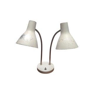 Mid Century Desk Lamp Double Headed Gooseneck