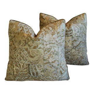 Italian Mariano Fortuny Carnavalet & Glicine Pillows - A Pair
