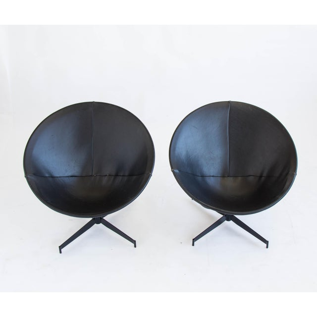 Leather Bucket Chairs by William Katavolos - Pair - Image 5 of 9