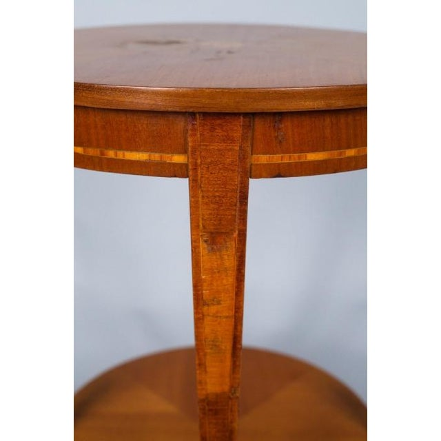 1900s French Louis XVI Style Mahogany Side Table - Image 5 of 10