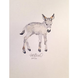 Contemporary Donkey Watercolor Painting