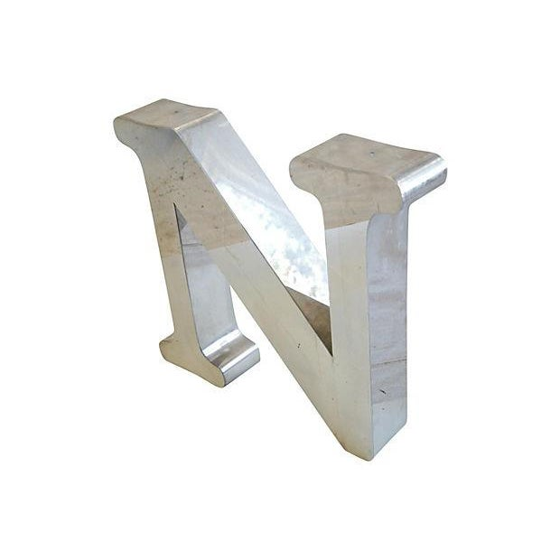 1970s Stainless Steel Marquee Letter N - Image 2 of 5