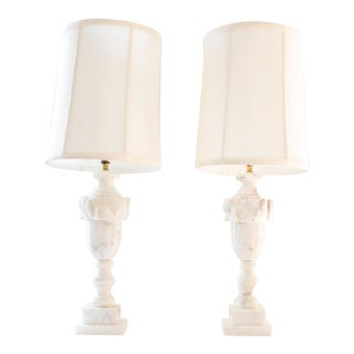 Pair of Marble Lamps, Traditional Italian / Neoclassical Urn Design
