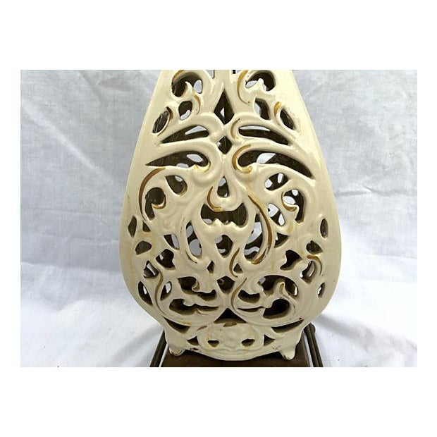 Ivory Sculptured Vintage Lamp - Image 3 of 5