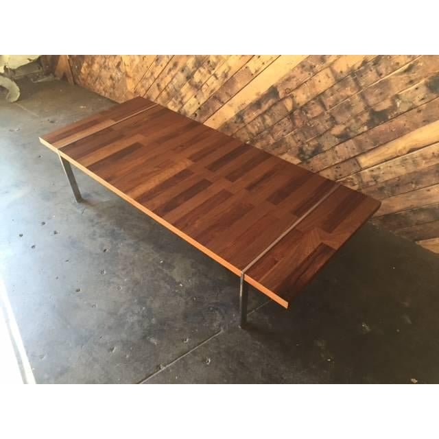 Image of Vintage Walnut, Rosewood & Chrome Coffee Table