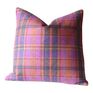 Pink & Purple Firecracker Ralph Lauren Wool Pillow Covers - Pair