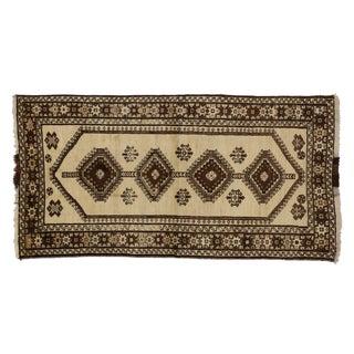 "Vintage Persian Shiraz Rug - 3'6"" x 6'9"""