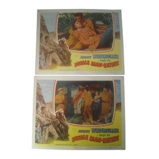 Jungle Man Eaters 1954 Movie Lobby Cards - A Pair