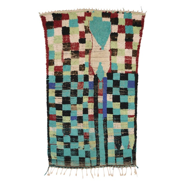 Boho Chic Vintage Berber Moroccan Rug with Modern Tribal Style, 04'05 x 07'06 - Image 9 of 9