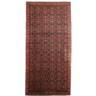 Antique Indian Agra Hand Knotted Wool Rug- 9′9″ × 19′9″