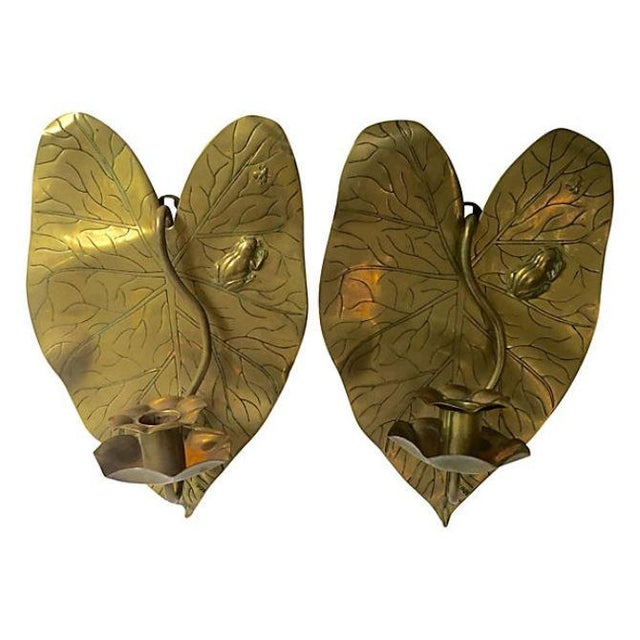 Image of Lily Pad Candle Sconces - A Pair