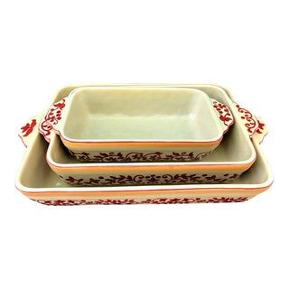 Lidia Bastianich Porcelain Loaf Baking Dishes - 3 Pieces