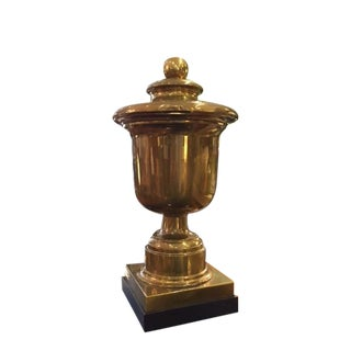 Vintage Monumental Chapman Brass Urn on Base