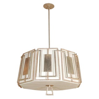 Paul Marra Shaded Trellis Chandelier