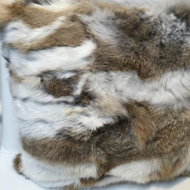 Rabbit Fur Down Pillow - Image 3 of 6