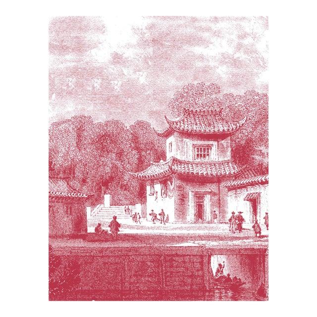 "Mitchell Black Home Acrylic Framed ""Bridge Chapoo"" Chinese Village Scene Print - Image 3 of 4"