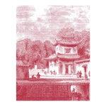 "Image of Mitchell Black Home Acrylic Framed ""Bridge Chapoo"" Chinese Village Scene Print"