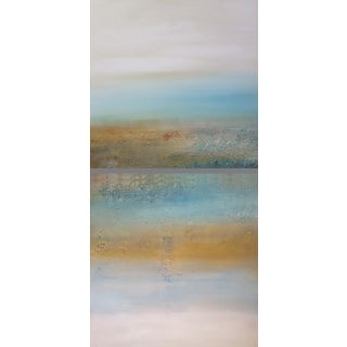 """""""Reflections on the Day"""" Modern Landscape Diptych Art Painting - A Pair"""