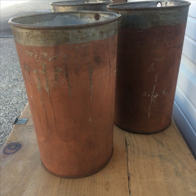 Antique Red Maple Syrup Sap Buckets - Set of 2 - Image 3 of 10