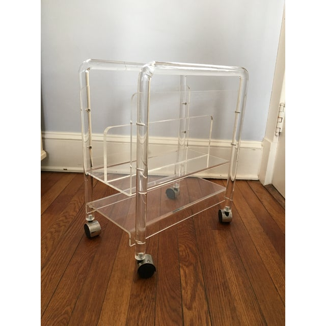 Image of Vintage Lucite Magazine Stand