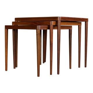 Hans Olsen Teak Nesting Tables - Set of 3