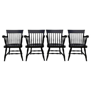Mid-Century Ebonized Armchairs - 4