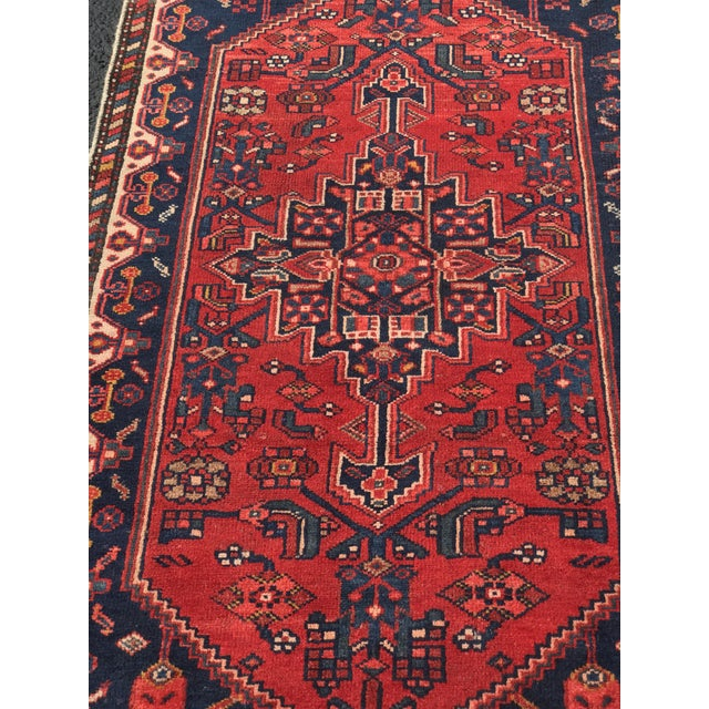 "Vintage Persian Zanjan Short Runner - 2'9"" x 6' - Image 3 of 10"
