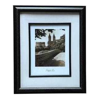 Framed Central Park Black and White Print