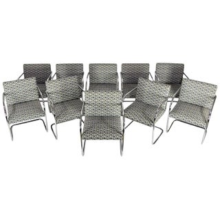 Set of Ten Tubular Brno Chairs by Knoll