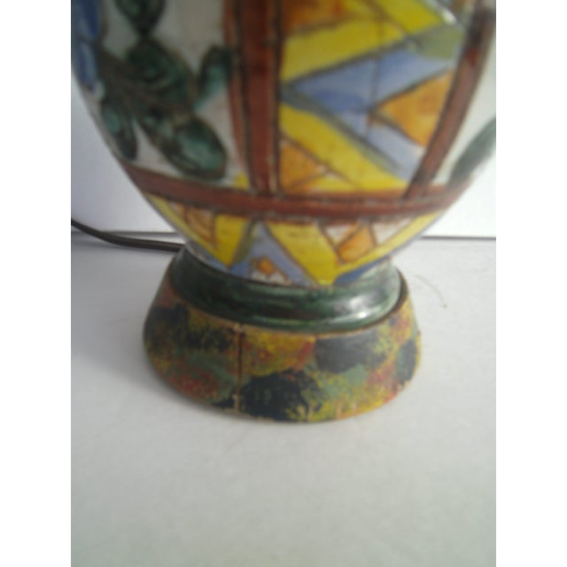 Early 20th Century Italian Pottery Lamp - Image 9 of 10