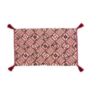 Red Diamond Handwoven Guatemalan Pillow