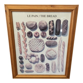 Vintage Framed French Breads Poster
