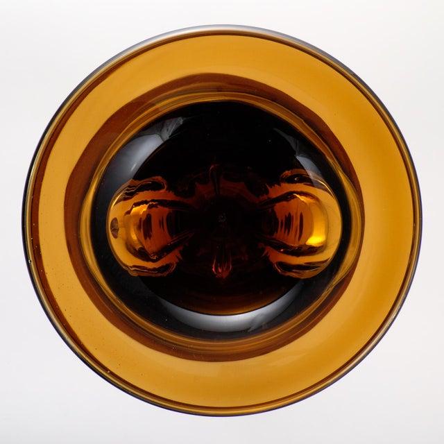 Murano Amber & Avventurina Glass Candlesticks- A Pair - Image 10 of 10