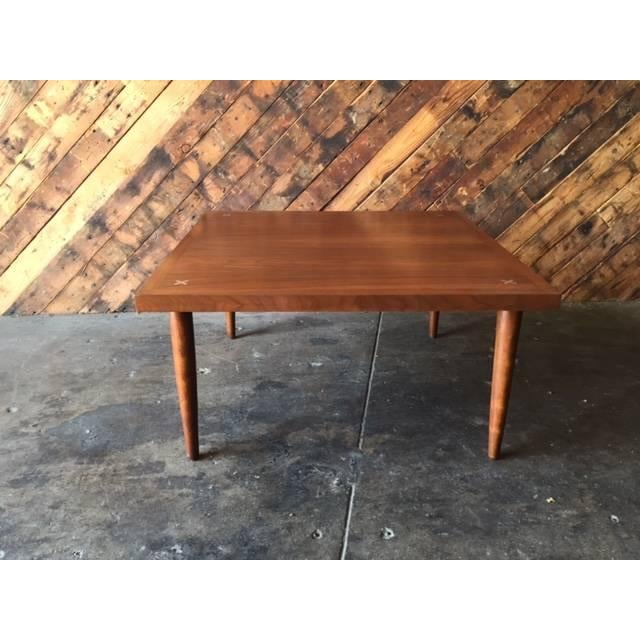 American of Martinsville Walnut Inlay Coffee Table - Image 2 of 7