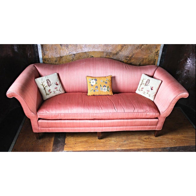 Antique Chippendale Silk Down Sofa - Image 2 of 11