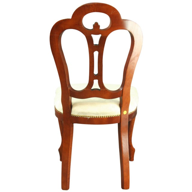 Large, New Italian Mahogany Rococo Dining Chair - Image 4 of 8