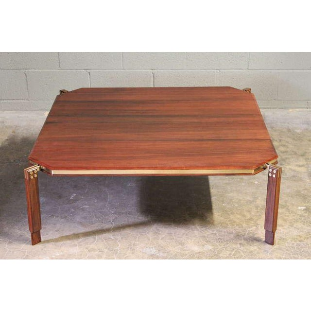 Rosewood and Brass Coffee Table - Image 2 of 10