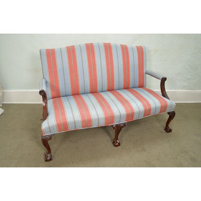 Kindel Chippendale Style Ball & Claw Foot Mahogany Settee - Image 10 of 10