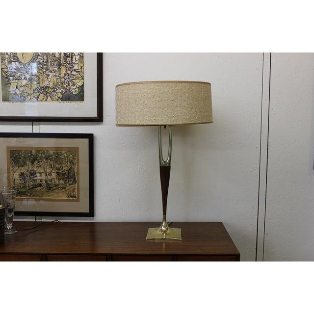 Mid-Century Modern Laurel Wishbone Lamp - Image 8 of 9